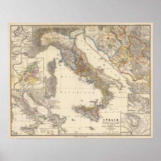 Italia adiectis iis print