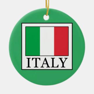 Italia Adorno Navideño Redondo De Cerámica