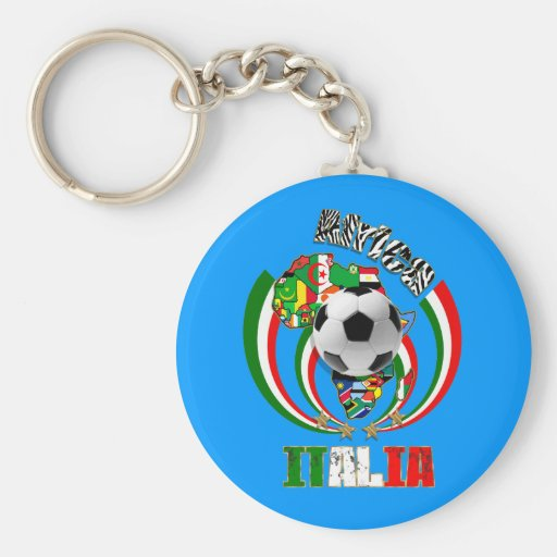 Italia Africa Soccer Italy flag Soccer Ball Gifts Key Chains
