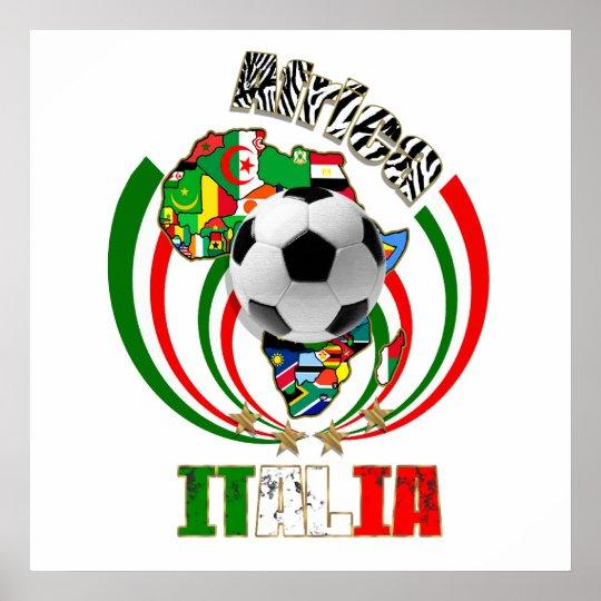 Italia Africa Soccer Italy flag Soccer Ball Gifts Poster