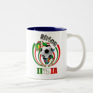 Italia Africa Soccer Italy flag Soccer Ball Gifts Two-Tone Coffee Mug