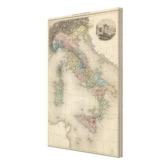 Italia anterior lona envuelta para galerias