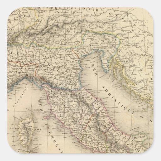 Italia antigua 3 colcomanias cuadradas personalizadas