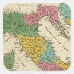 Italia Antiqua Pegatinas Cuadradases