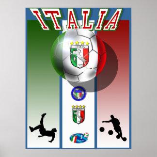 Italia artwork calcio world cup soccer sports poster