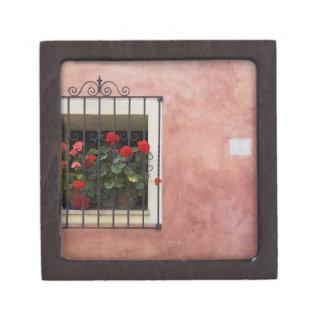 Italia, Asciano, cajas de ventana con la primavera Cajas De Regalo De Calidad
