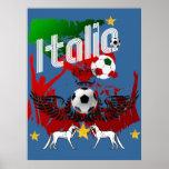 Italia aviva la fan de deportes del fla de Azzurri Posters