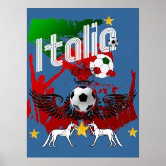 Italia aviva la fan de deportes del fla de Azzurri Póster