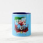 Italia aviva los regalos del fútbol de la taza de