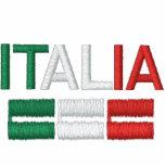 Italia-Bandera de Italia Sudadera Bordada Con Capucha