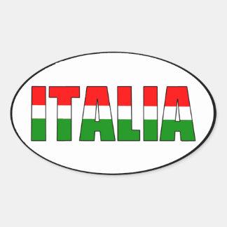 Italia-Bandera de Italia Calcomania Óval