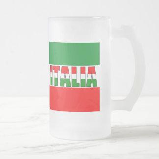 Italia-Bandera de Italia Taza De Cristal