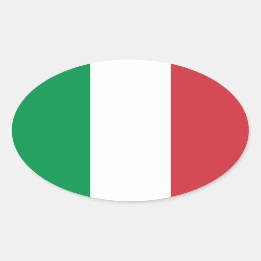 Italia/bandera italiana pegatina de óval personalizadas