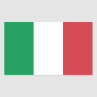 Italia/bandera italiana pegatina rectangular