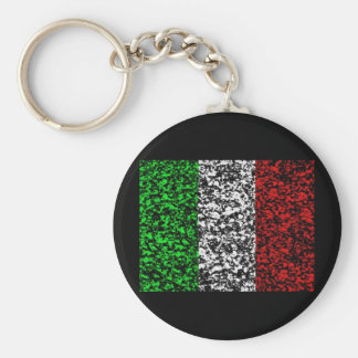 Italia - bandera llavero redondo tipo pin