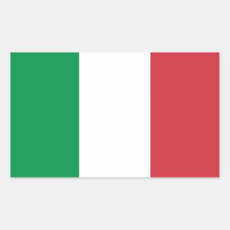 Italia - bandera nacional italiana etiqueta