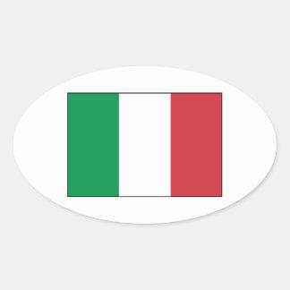 Italia - bandera nacional italiana calcomanía ovalada
