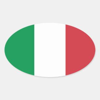 Italia - bandera nacional italiana pegatina ovalada