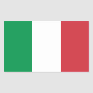 Italia - bandera nacional italiana pegatina rectangular