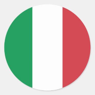 Italia - bandera nacional italiana pegatina redonda