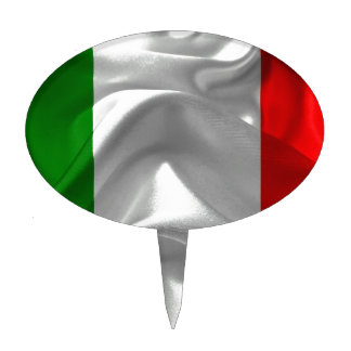 Italia-Bandera Palillos De Tarta