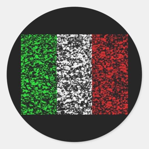 Italia - bandera pegatina redonda