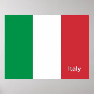 Italia, bandera póster