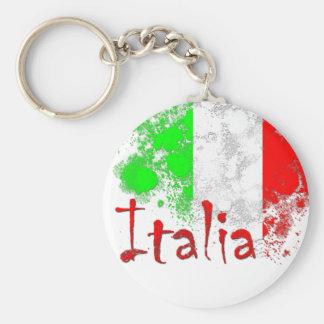 Italia Basic Round Button Keychain