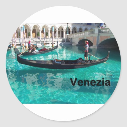¡Italia Bella Venezia! (St.K) Pegatinas Redondas