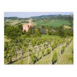 Italia, Bolonia, visión a través del viñedo a Tarjeta Postal