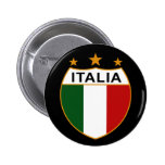 ITALIA - botón Pin Redondo De 2 Pulgadas