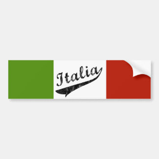 Italia Bumper Sticker Car Bumper Sticker