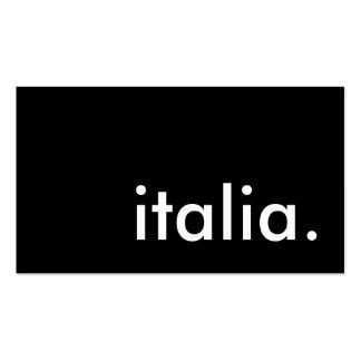 italia. business card