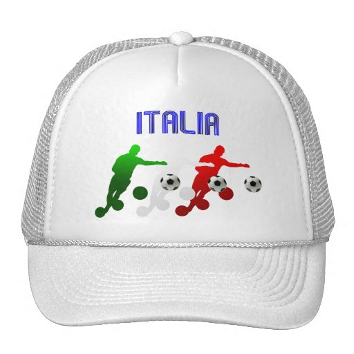 Italia Calcio Bend It Soccer Player Italy flag Trucker Hat