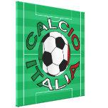 Italia Calcio Italy Football Gallery Wrapped Canvas