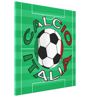 Italia Calcio Italy Football Canvas Print