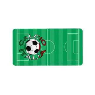 Italia Calcio Italy Football Custom Address Labels