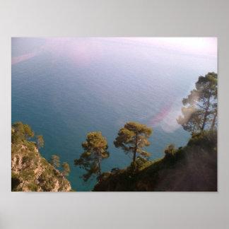 Italia - camino Amalfi de la costa Póster
