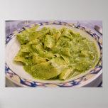 Italia, Camogli. Placa de las pastas con pesto Impresiones