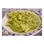 Italia, Camogli. Placa de las pastas con pesto Fotografías