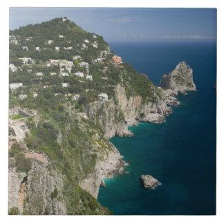 ITALIA, Campania, (bahía de Nápoles), CAPRI: Azulejo Cuadrado Grande