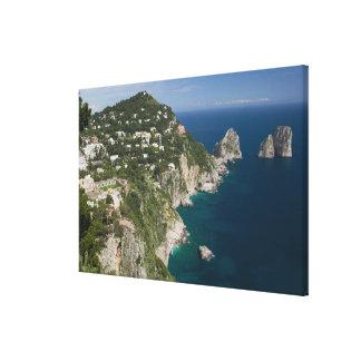 ITALIA, Campania, (bahía de Nápoles), CAPRI: Impresiones De Lienzo