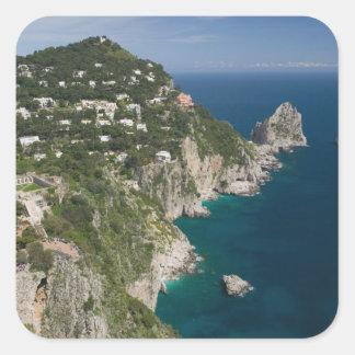 ITALIA, Campania, (bahía de Nápoles), CAPRI: Pegatina Cuadrada