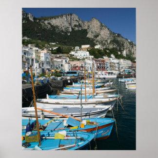 ITALIA, Campania, (bahía de Nápoles), CAPRI: Puert Posters