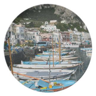 ITALIA, Campania, (bahía de Nápoles), CAPRI: Puert Plato De Comida