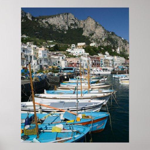 ITALIA, Campania, (bahía de Nápoles), CAPRI: Puert Póster