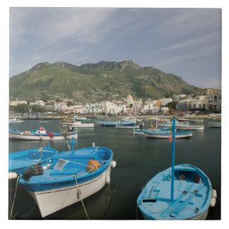 ITALIA, Campania, (bahía de Nápoles), ISQUIONES, F Azulejo Cuadrado Grande