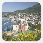 ITALIA, Campania, (bahía de Nápoles), ISQUIONES, L Calcomania Cuadradas Personalizadas