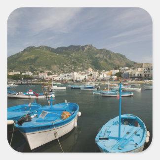 ITALIA, Campania, (bahía de Nápoles), ISQUIONES, Pegatina Cuadrada