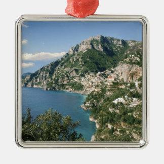 Italia, Campania, península de Sorrentine, Adorno Navideño Cuadrado De Metal